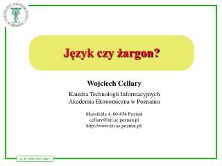 Język czy żargon?