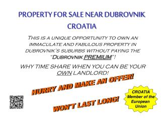 PROPERTY FOR SALE NEAR DUBROVNIK CROATIA