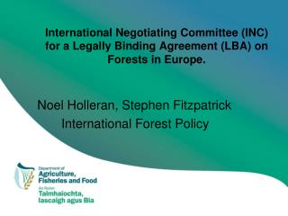 Noel Holleran, Stephen Fitzpatrick International Forest Policy