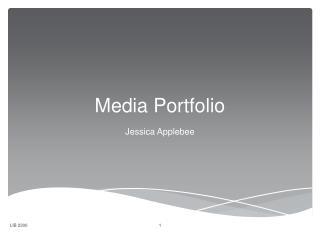 Media Portfolio