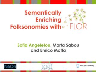 Semantically Enriching Folksonomies with