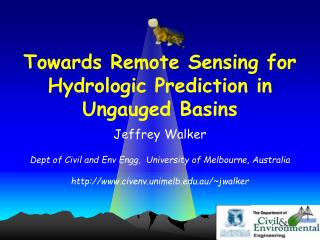 Towards Remote Sensing for Hydrologic Prediction in Ungauged Basins