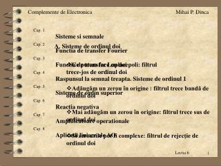 Cap. 5 Sisteme de ordin superior