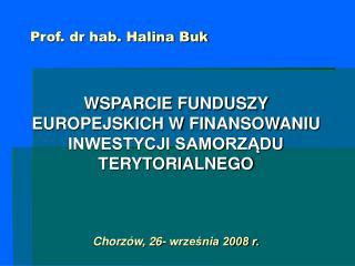 Prof. dr hab. Halina Buk