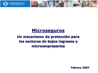 Microseguros Un mecanismo de protección para los sectores de bajos ingresos y microempresarios