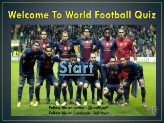 Welcome To World Football Quiz