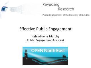 Effective Public Engagement