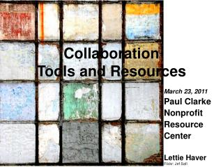 Collaboration  Tools and Resources