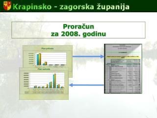 Proračun  za 2008. godinu