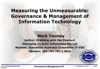 Measuring the Unmeasurable: Governance & Management of Information Technology