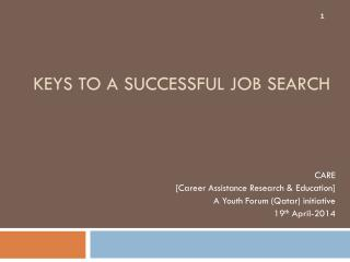 Keys to a Successful Job Search