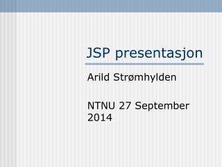 JSP presentasjon