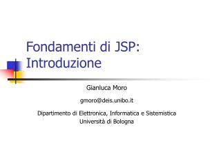 Fondamenti di JSP: Introduzione