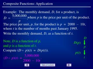 Composite Functions: Application