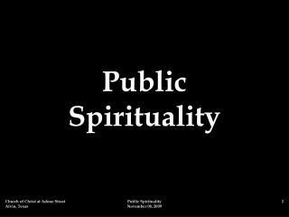 Public  Spirituality