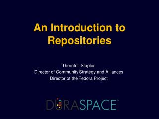 An Introduction to  Repositories