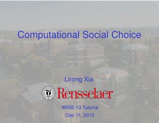 Computational Social Choice