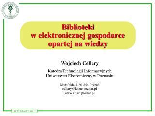 Biblioteki w elektronicznej gospodarce opartej na wiedzy