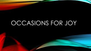 Occasions for Joy