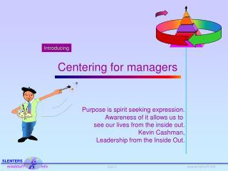 Purpose is spirit seeking expression. Awareness of it allows us to