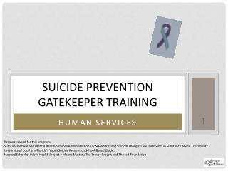 Suicide Prevention Gatekeeper Training