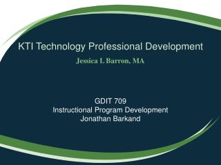 KTI Technology Professional Development