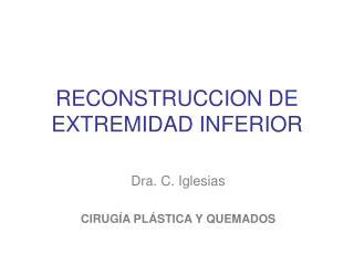RECONSTRUCCION DE EXTREMIDAD INFERIOR