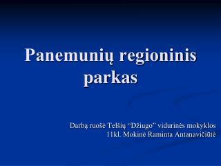 Panemunių regioninis parkas
