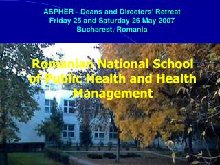 Romanian National School of Public Health and Health Management