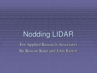 Nodding LIDAR
