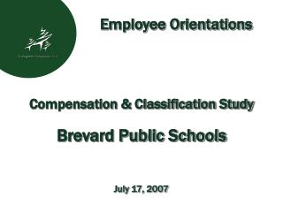 Compensation & Classification Study Brevard Public Schools