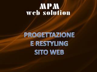 PROGETTAZIONE E RESTYLING SITO WEB