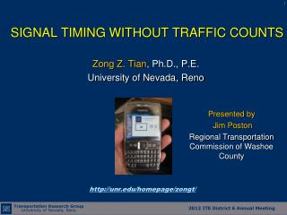 SIGNAL TIMING WITHOUT TRAFFIC COUNTS