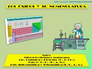 Autor: Lic. Q y B.  Nilxon Rodríguez Maturana
