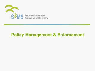 Policy Management & Enforcement
