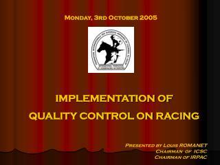 Monday, 3rd October 2005