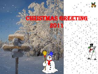 Christmas greeting 2011