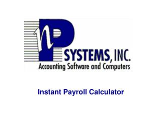 Instant Payroll Calculator