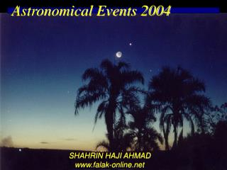 Astronomical Events 2004