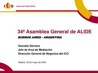 34� Asamblea General de ALIDE