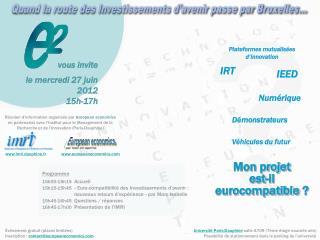 Quand la route des Investissements d'avenir passe par Bruxelles…