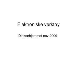 Elektroniske verktøy