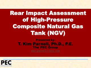 Rear Impact Assessment of High-Pressure Composite Natural Gas Tank NGV