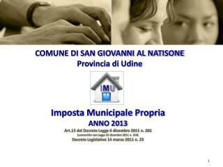 COMUNE DI SAN GIOVANNI AL NATISONE Provincia di Udine
