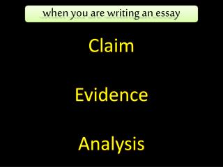 Claim Evidence Analysis