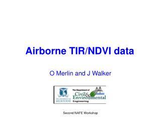 Airborne TIR/NDVI data