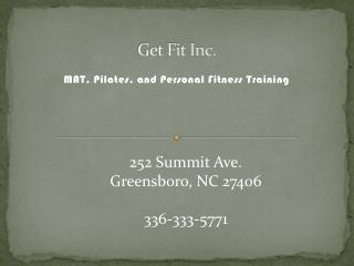 Get Fit Inc.