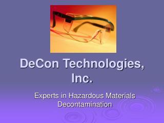 DeCon Technologies, Inc.