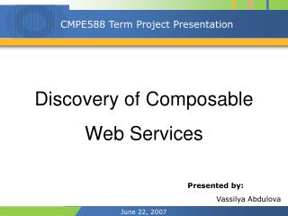Discovery of Composable Web Services