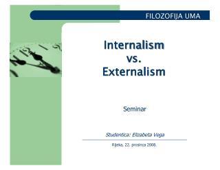Seminar Studentica: Elizabeta Vega